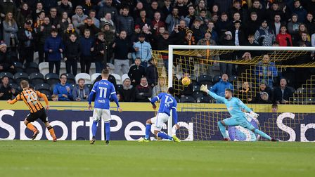 Hull equalise during the first half with a goal from Bowen Picture Pagepix