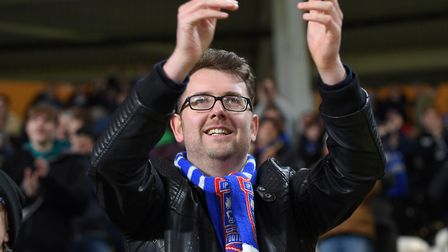 Ipswich Town fans seemed content with a point at Hull. Picture: PAGEPIX LTD