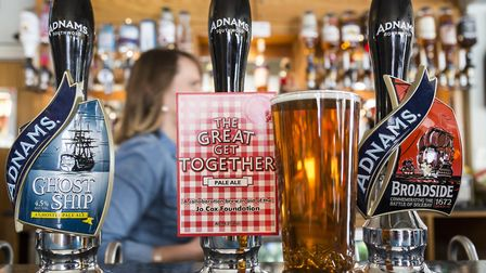 Adnams was promoting its Ghost Ship beer in Norwich. Picture: SARAH GROVES