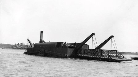 the steam driven chain ferry crossing the Deben at Felixstowe Ferry. Picture: CONTRIBUTED