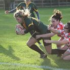 Rebecca Calver scores for Bury Foxes in their big cup win. Picture: SHAWN PEARCE
