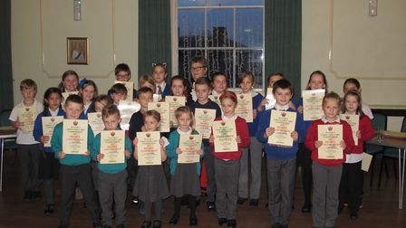 Group photo of all winners with the Deputy Mayor of Sudbury Sue Ayres. Picture: CONTRIBUTED