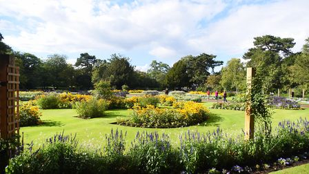 The Abbey Gardens in full bloom. Picture: GREGG BROWN