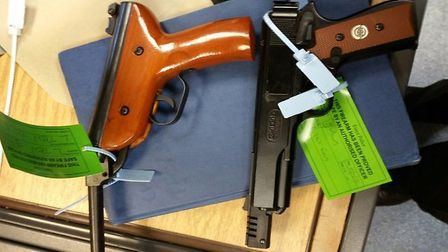 Firearms from members of the public handed in to Essex Police. Picture: ESSEX POLICE