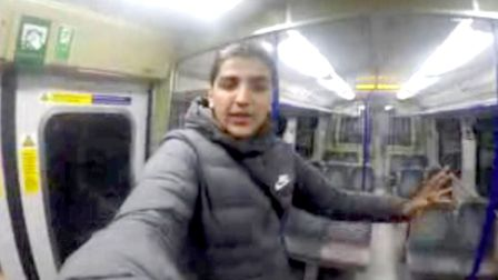 Mobile phone footage grab issued by British Transport Police of Harris Ahmed, 18, prior to to climbi