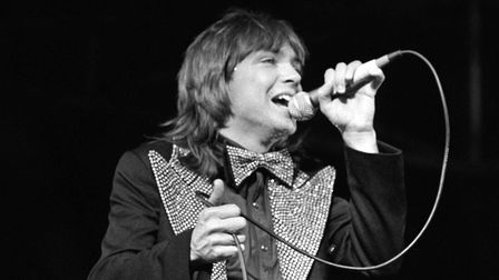 File photo dated 28/5/1974 of American pop star David Cassidy performing at a concert at the Maine R
