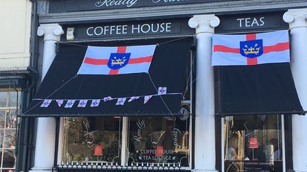 Businesses and shops backed the celebrations for St Edmund. Picture: MICHAEL STEWARD