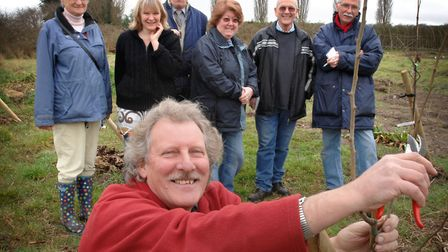 Ric Staines shows allotment holders at Maidenhall how to shape a tree by pruning it correctly. File