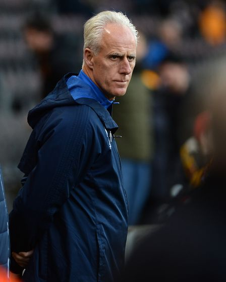 Mick McCarthy before the match with Hull City. Photo: Pagepix