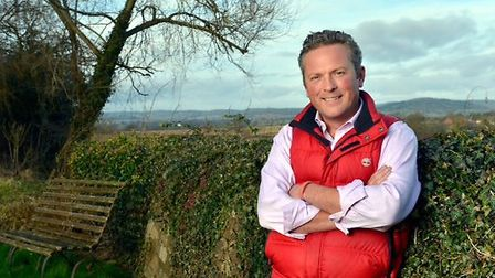 Jules Hudson presenter of the BBC show Escape to the Country, at his home in Herefordshire, a 16th C