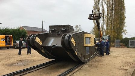 The replica First World War tank for which Ipswich-based Firetrace supplied a fire suppression syste