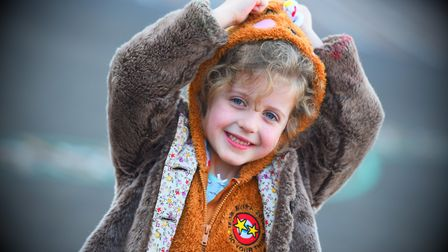Alexia from Wickham Market taking part in Children in Need. Picture: GREGG BROWN