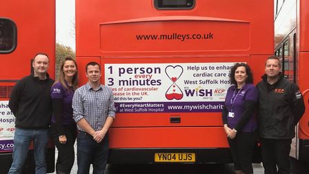 Pictured at Mulleys depot at Ixworth are left to right, John Dorling from Show Off Graphics, Sue Smi