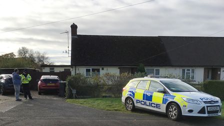 The bungalow in Thurston Road, Beyton, where a woman suffered serious head injuries