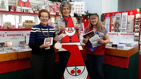 Pictured, left to right, are Ingeborg Sabine, Claire Flux and Luci Fry at the Cards for Good Causes