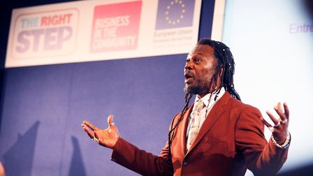 Levi Roots, pictured at the BITC Right Step event, will be opening the Suffolk Coast Business trade