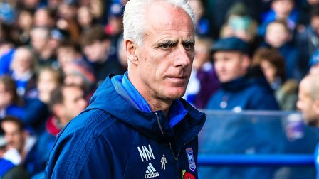 Ipswich Town manager Mick McCarthy. Photo: Steve Waller