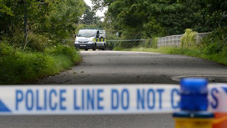 Police closed Goose Lane bridge during the investigation. Picture: JOHN STILLWELL/PA WIRE