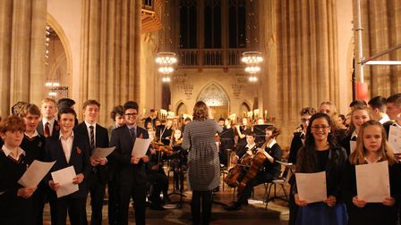 King Edward VI School's symphony orchestra and flagship choir, Ex Silentio, performed. Picture: KEGS