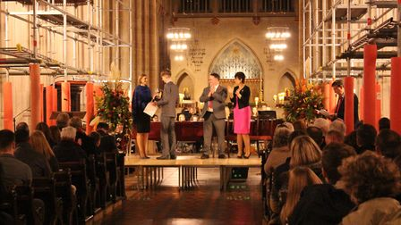 The King Edward VI School awards, which was held at St Edmundsbury Cathedral for the first time. Pic
