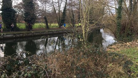 Runners make their way alongside the River Little Ouse during the Thetford Parkrun. Picture: CARL MA