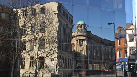 Reflection of buildings in Ipswich. Picture: MICK HIGHNAM