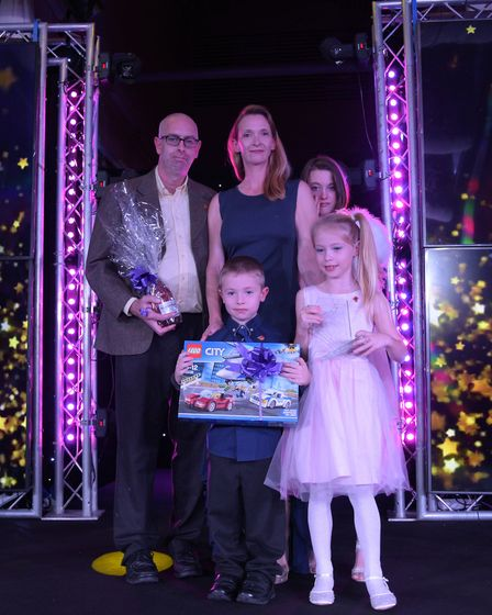 Outstanding Bravery winner Isaac Bell with his family. Picture: SARAH LUCY BROWN