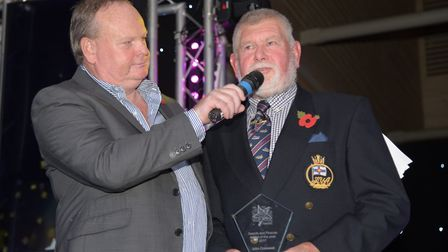 John Cresswell receiving the award for Search and Rescue Person of the Year. Picture: SARAH LUCY