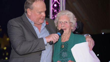 Mark Murphy chatting to Volunteer of the Year, Irene Rowe. Picture: SARAH LUCY BROWN