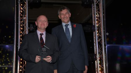 Armed Services Person of the Year, Gary Croot, receiving his award. Picture: SARAH LUCY BROWN