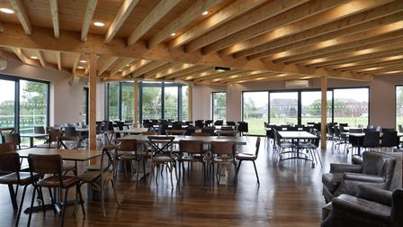 The inside of the pavilion, which also featurs a Paddy and Scott's cafe. Picture: FRAMLINGHAM COLLEG