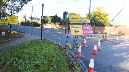 The Woods Lane closure has drawn significant opposition from people in east Suffolk. Picture: GREGG