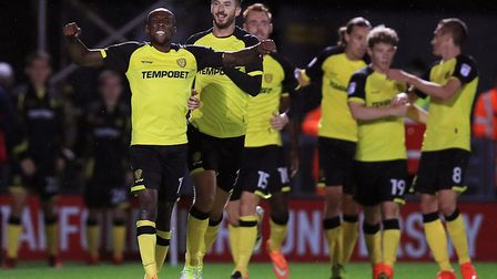 Burton Albion's kit is made by Tag. Picture: PA