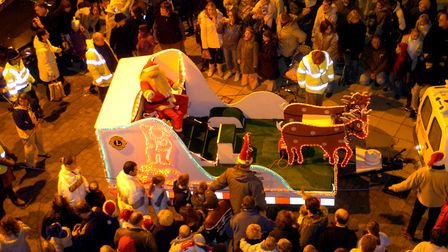 Switching on the Lowestoft Christmas lights. PICTURE: BILL DARNELL