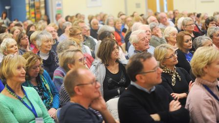 Audience from the Lavenham Literary Festival in previous year. Picture: GREGG BROWN