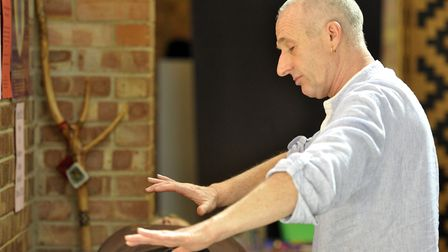 Keith Goodwin, from Healing Alchemy, performed healing at the Woodbridge Mind Body Spirit Festival i