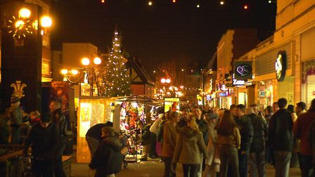 The Christmas lights switch-on at Lowestoft. Picture: BILL DARNELL