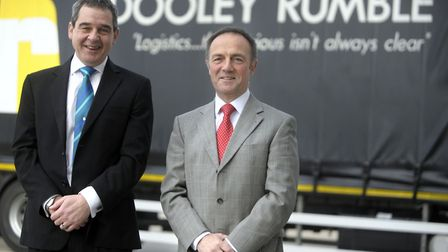 Neil Dooley and Simon Rumble, founders of Suffolk logistics company Dooley Rumble which has been acq