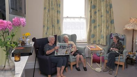 Residents at St Barnabas Care Home in Southwold. Picture: STEPHEN WOLFENDEN