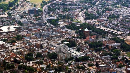 Colchester: The urban sprawl goes on and on and on... Picture: ARCHANT