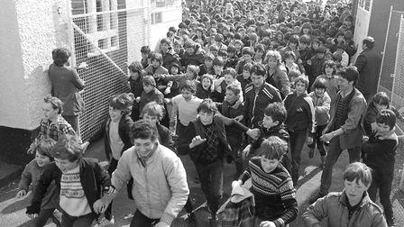 Hundreds of youngsters queued annually at the gates of Mannings Amusement Park on the first day of