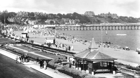 The promenade and pier at Felixstowe from Sea Road in the 1930s. Picture: DAVID KINDRED