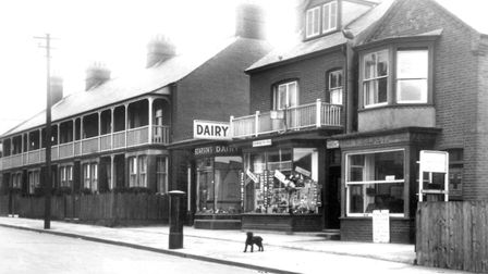 The fish and chip shop (right) in Beach Station Road, Felixstowe, was a popular stop off for day vis