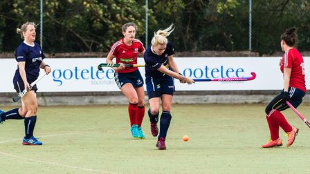 Chloe Williams was in great form for Ipswich as they went top of the table. Picture: STEVE WALLER