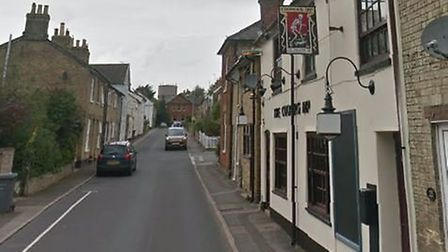 A man was knocked unconscious as he walked home from the Coopers Dip pub in Saxmundham. Picture: GOO