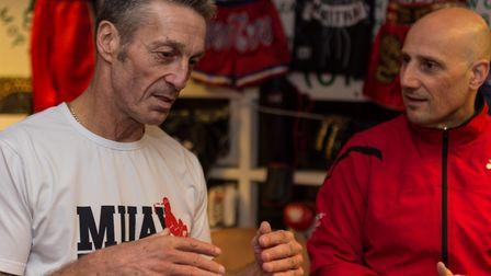 Gary Staff, left, and Nino Severino in conversation. Picture: PAVEL KRICKA