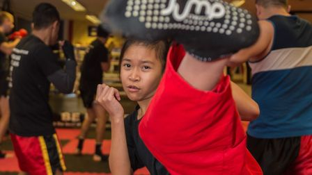 Young Ipswich martial artist Emily Chapman who was awarded her black belt last weekend. Picture: PAV