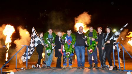 Lee Strudwick will be defending his World Bangers title at Foxhall on Saturday. Picture: SPEDEWORTH