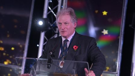 The High Sheriff of Suffolk, Geoffrey Probert. pictured at the Stars of Suffolk Awards, will present