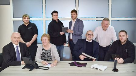 Members of the team at Chicane Voice & Data, based at Great Blakenham, near Ipswich. Picture: James